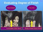 evaluating degree of finish10