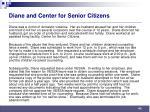 diane and center for senior citizens