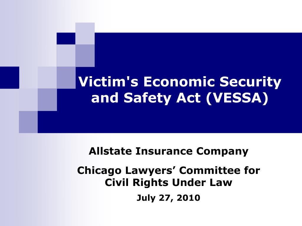 victim s economic security and safety act vessa l.