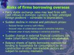risks of firms borrowing overseas