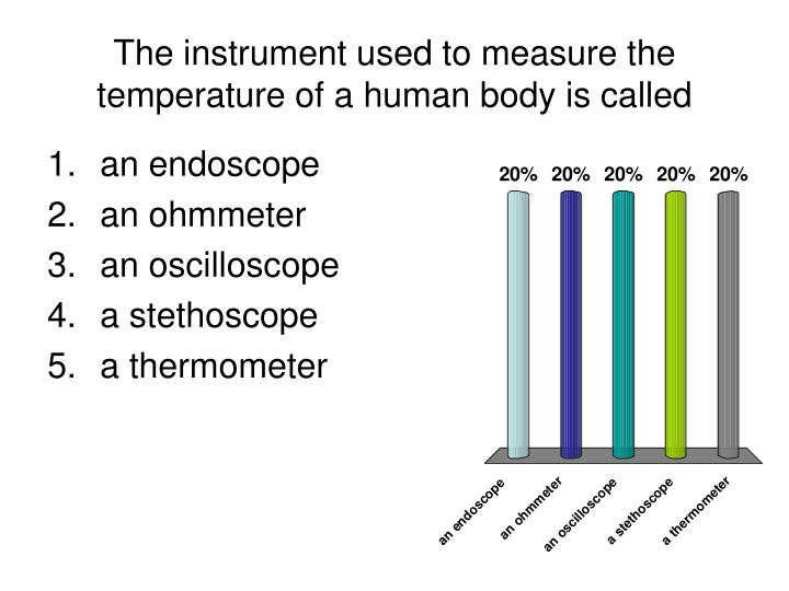 the instrument used to measure the temperature of a human body is called n.