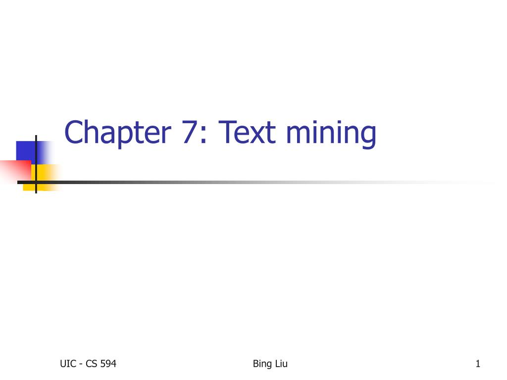 chapter 7 text mining l.