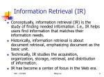 information retrieval ir