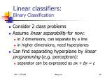 linear classifiers binary classification