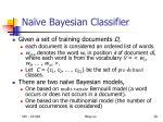 na ve bayesian classifier