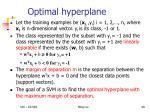 optimal hyperplane