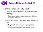accessibility on the web 2