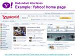 redundant interfaces example yahoo home page