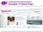 standards based development example y home page