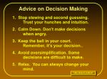 advice on decision making