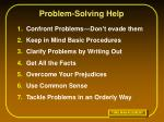 problem solving help