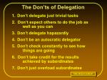 the don ts of delegation