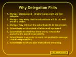 why delegation fails