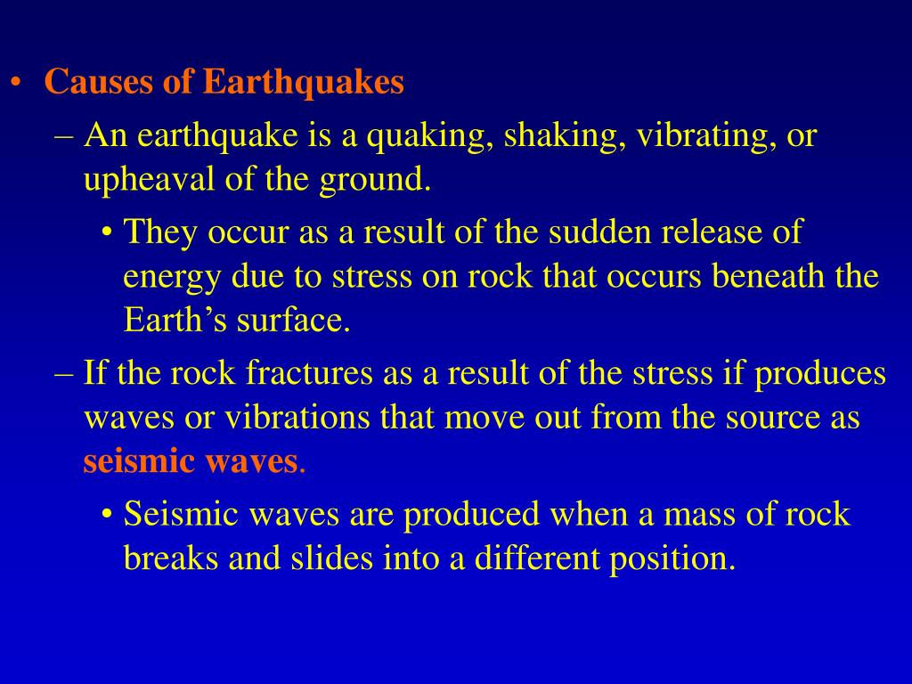 Causes of Earthquakes