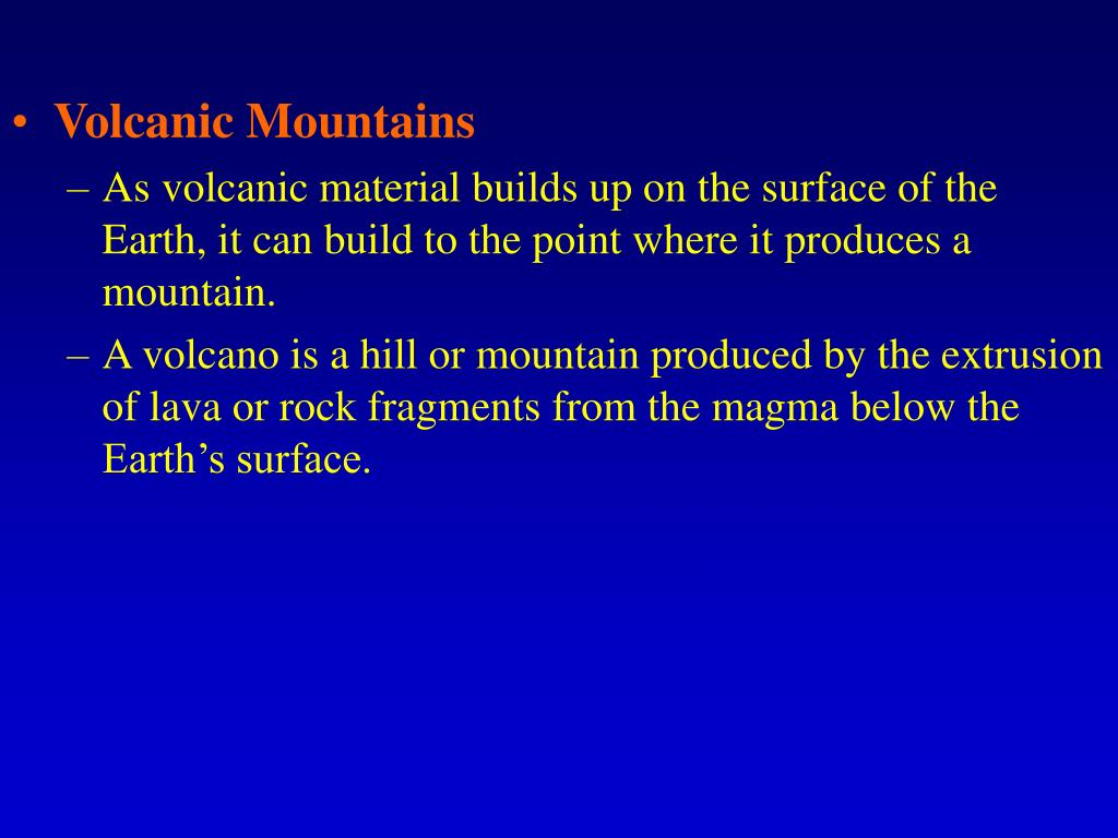 Volcanic Mountains