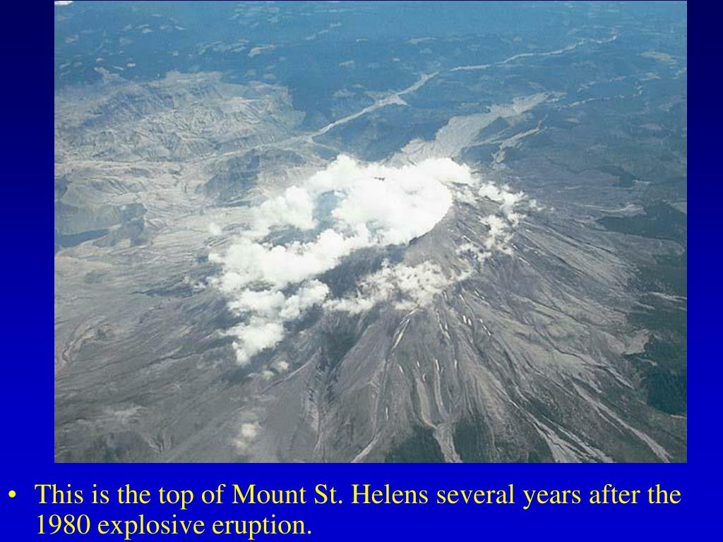 This is the top of Mount St. Helens several years after the 1980 explosive eruption.