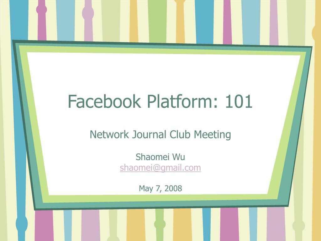 facebook platform 101 l.
