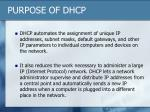 purpose of dhcp