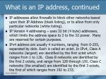 what is an ip address continued