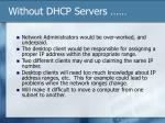 without dhcp servers