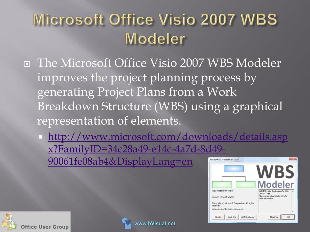 PPT - Visualizing DATA with Microsoft Office Visio 2007