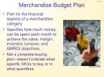 merchandise budget plan