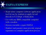 fafsa express