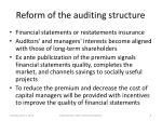 reform of the auditing structure