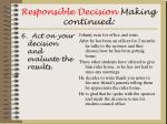 responsible decision making continued12