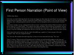 first person narration point of view
