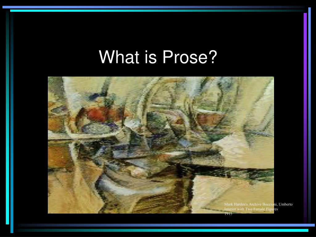 what is prose l.