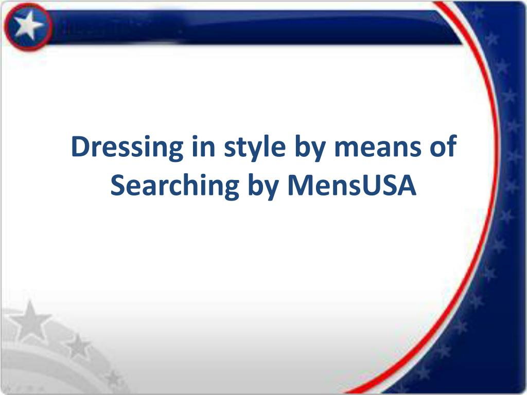 dressing in style by means of searching by mensusa l.