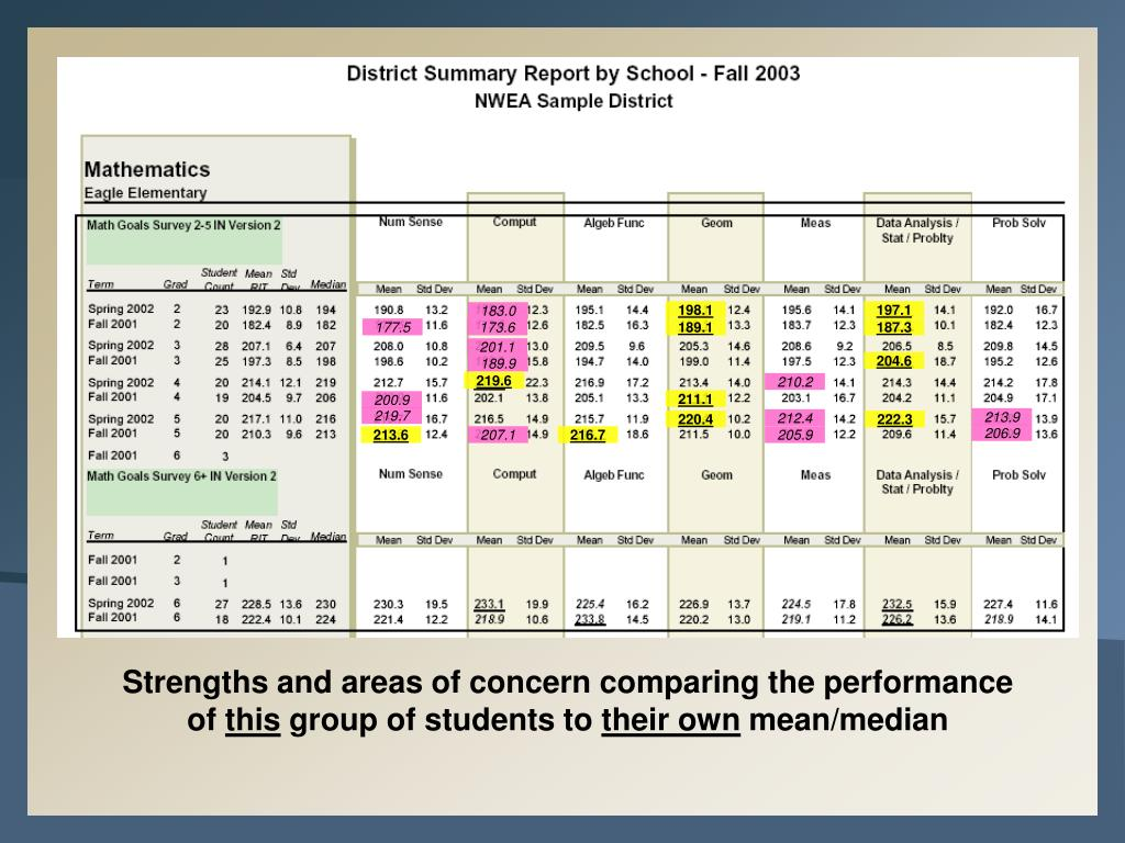 {District Summary Report}