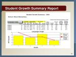 student growth summary report