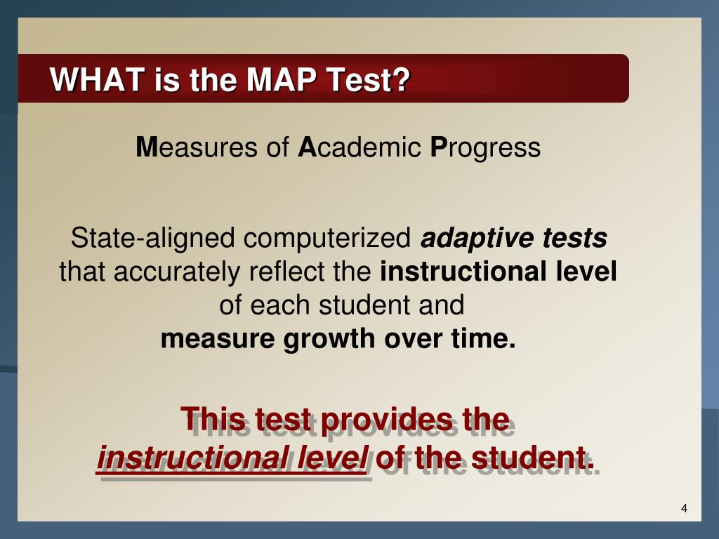 WHAT is the MAP Test?