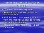 prevention measures for case study 2