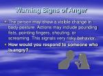 warning signs of anger