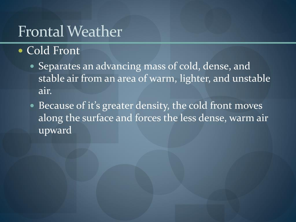 Frontal Weather