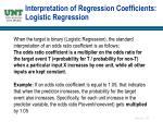 interpretation of regression coefficients logistic regression