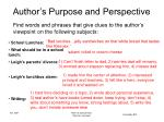 author s purpose and perspective9