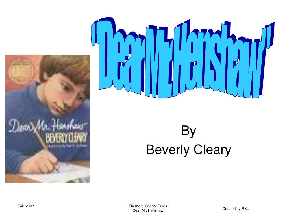 by beverly cleary l.