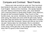 compare and contrast best friends