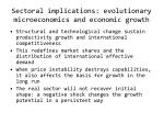 sectoral implications evolutionary microeconomics and economic growth