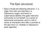 the epic structure