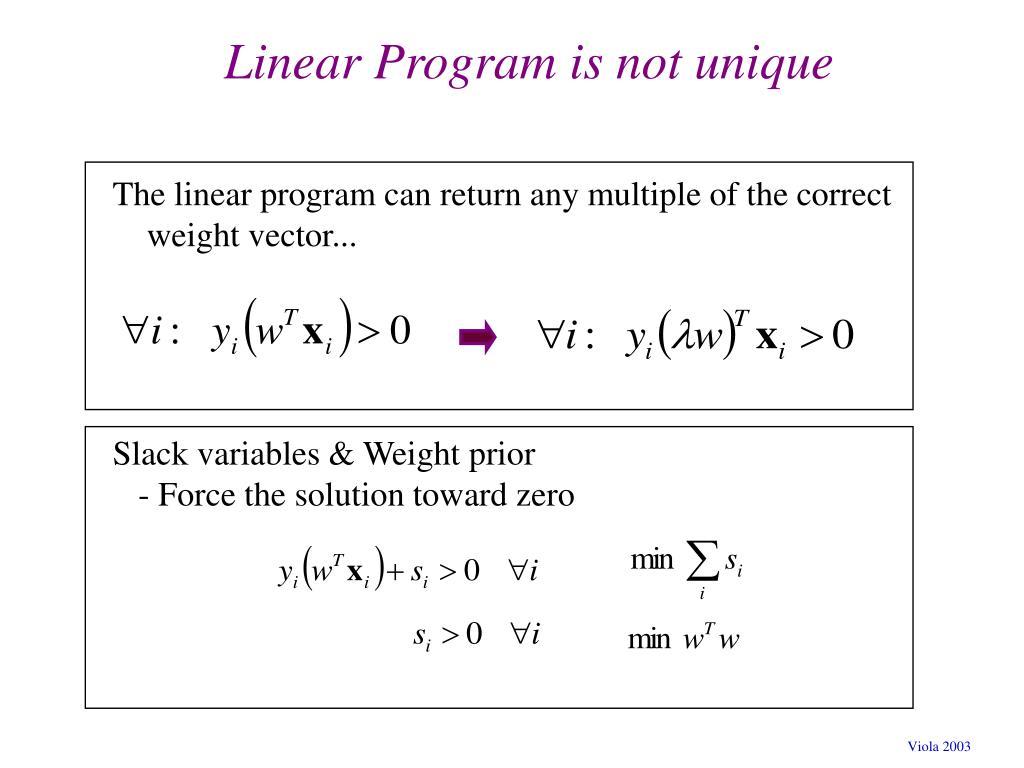 Linear Program is not unique