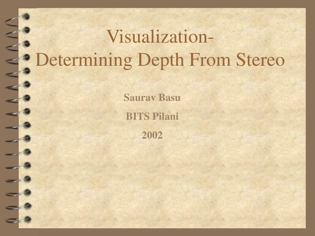 visualization determining depth from stereo l.