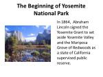 the beginning of yosemite national park