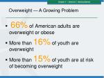 overweight a growing problem