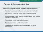 parents caregivers are key