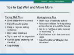 tips to eat well and move more
